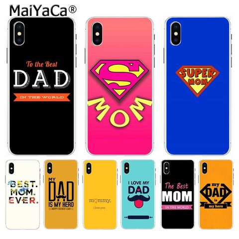 for iphone 11 pro max case the best MOM DAD High Quality Phone Accessories case for Apple iPhone 8 7 6 6S Plus X XS max 5 5S SE XR Mobile Cover Pakistan