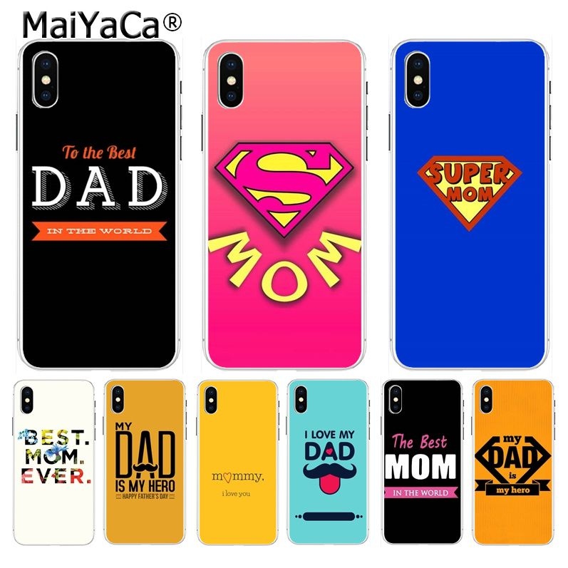 for iphone 11 pro max case the best MOM DAD High Quality Phone Accessories case for Apple iPhone 8 7 6 6S Plus X XS max 5 5S SE XR Mobile Cover
