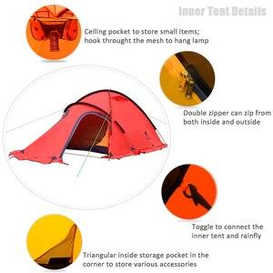 Image 4 - GeerTop חורף אלפיני אוהל האולטרה עמיד למים 2 אדם 4 עונה חיצוני הרי קמפינג אוהלי בטוח משקף חגורת טיול תיירות