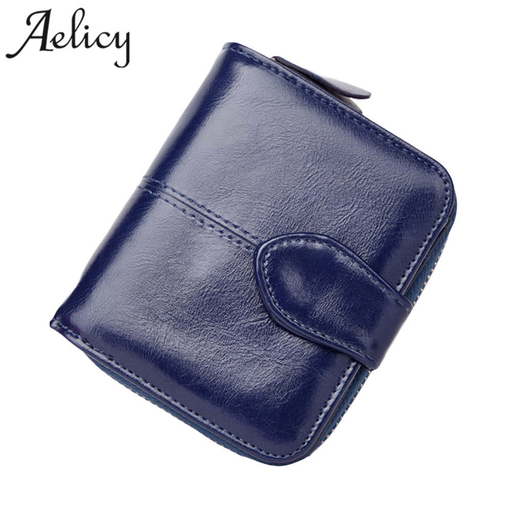 Aelicy Fashion Wallet Women Purse Female High Quality Wallet Leather Multifunction Purse Small Money Bag Coin