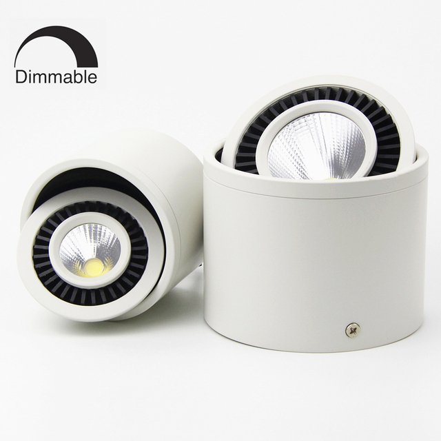 Us 7 7 Dimmable Cob Surface Mounted Led Ceiling Downlight Square Led Panel Price Ceiling Bulb Spot Led Encastrable Embutir Inbouwspot In Led