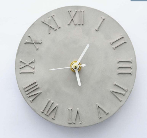 Cement Concrete Silicone Mold DIY Craft Clock Making Ceramic Clay Plaster Mould