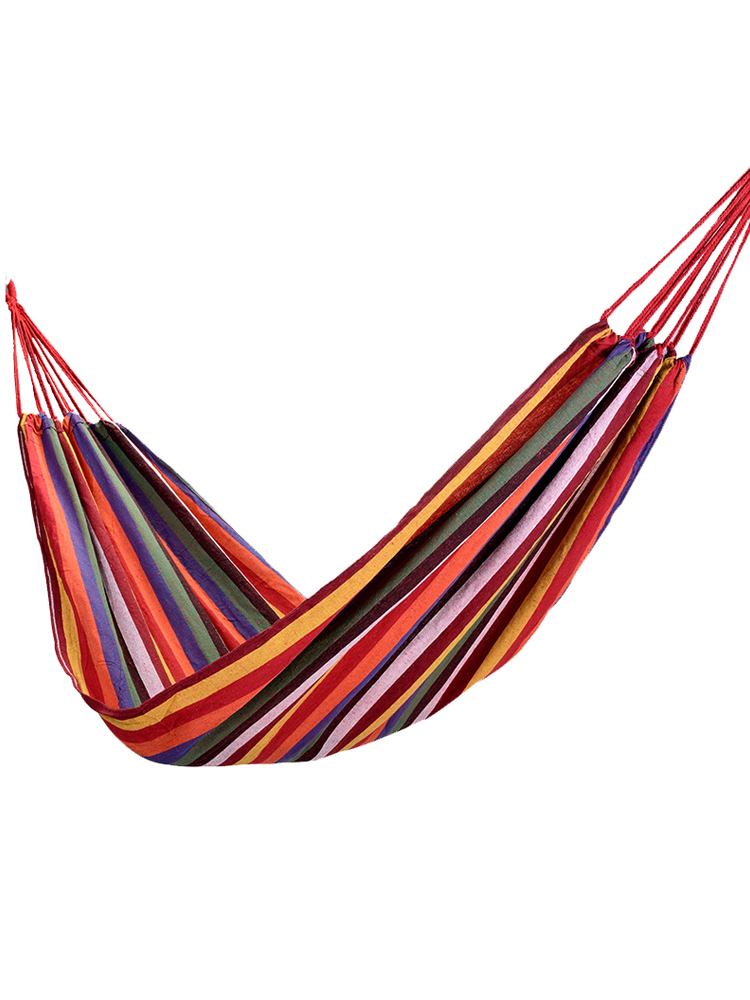 Bedding Sets Home Textile 2colors Hammock Striped Portable Outdoor Garden Hammock Hang Bed Travel Camping Swing Hanging Bed Canvas Portable Hammock Harmonious Colors