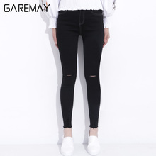 Stretch denim capris elastic waist online shopping-the world ...