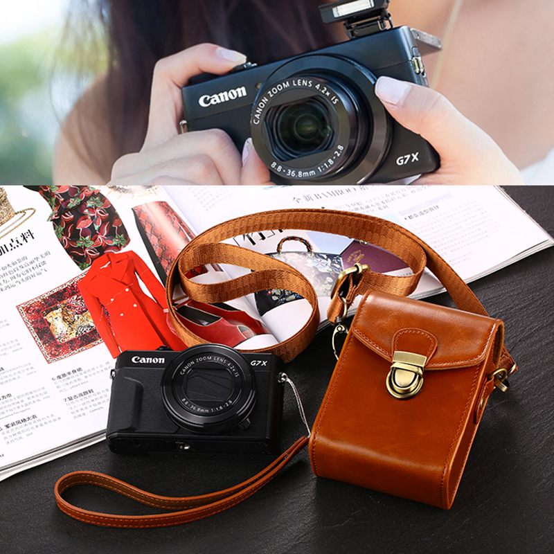High Quality PU Leather Camera Bag For <font><b>Samsung</b></font> WB2000 WB800F WB30F DV150F WB35F WB50F DV180F WB351F WB31F <font><b>WB250F</b></font> WB201F WB750 image