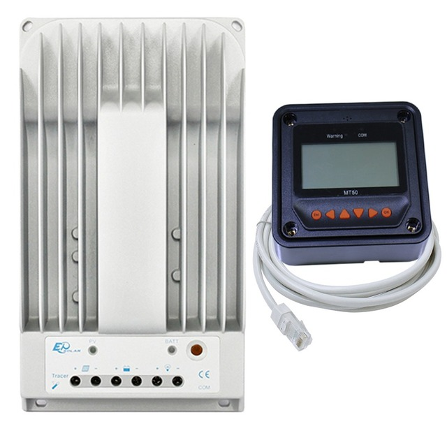 Tracer MPPT 30A Контроллер заряда lcd12/24 В Панели солнечные солнечный регулятор EPSolar гель Батарея вариант с дистанционным метр mt50