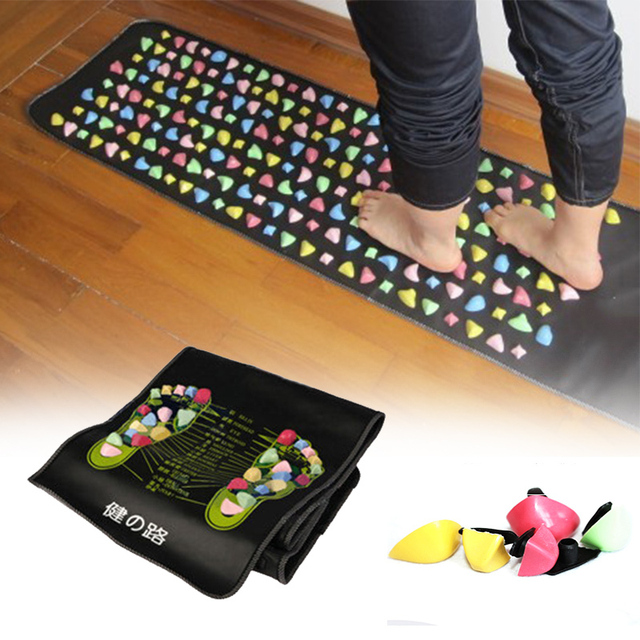 creative foot blanket rainbow stone feet massage mat healthy living massage health care product A6