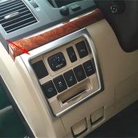 Bbincar ABS Chrome Car Interior Headlight Lamp Adjustment Button Switchs Trim Matte For Toyota Land Cruiser