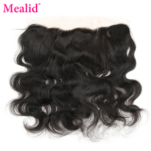 """Mealid Brazilian Body Wave Lace Frontal Non-remy Natural Color 8""""-20"""" Human Hair Closure Free Shipping"""