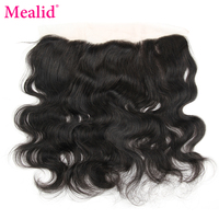 Mealid Brazilian Body Wave Frontal Closure Non Remy Natural Color 8 18 Lace Frontal Free