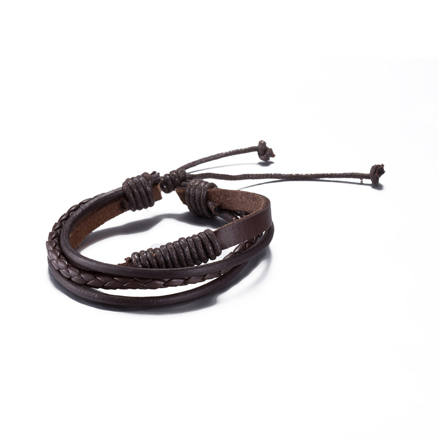 Leather Bracelet braided bangles fashion jewelry for men and women cool retro style factory cheap wholesale