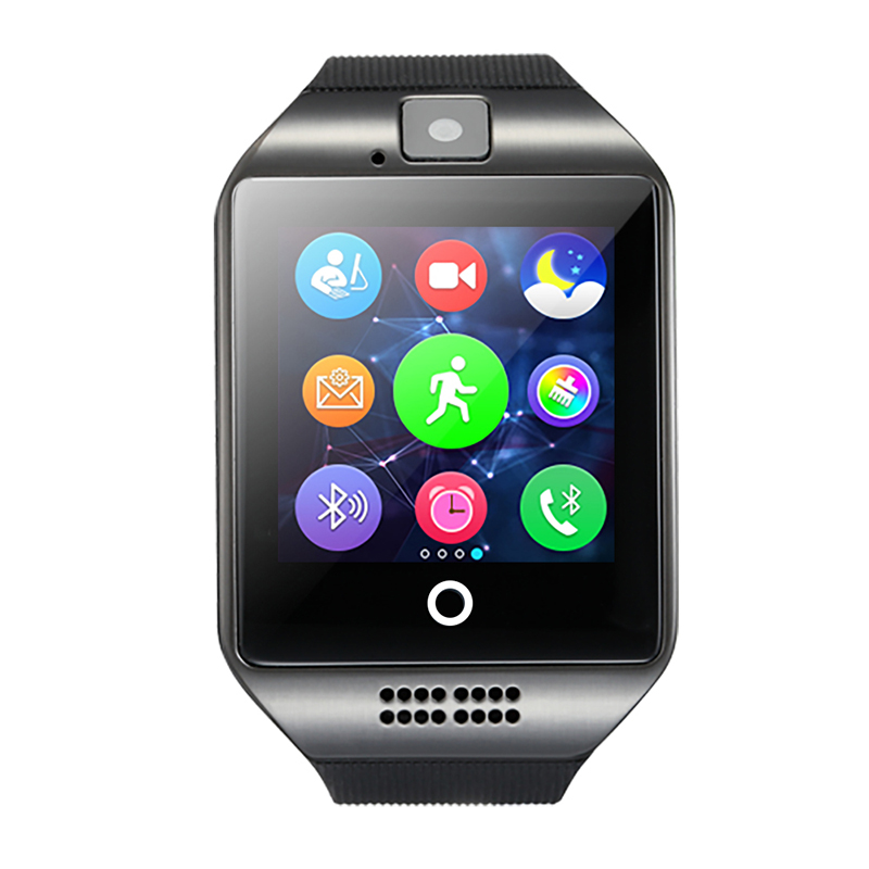 Sensor Ekran kamera ilə Q18 Smart saat TF kart Bluetooth smartwatch Facebook Whatsapp Twitter Sync SMS Android IOS Telefon üçün