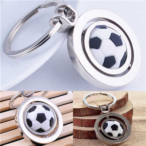 1Piece For Men Boy 3D Sports Rotating Basketball Football Soccer Keychain Ring Key Fob Ball Gifts Keyring