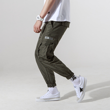 2017 summer time mens joggers informal cargo pants style males Jogger Pants males hip hop military city garments pants inexperienced ,black trousers