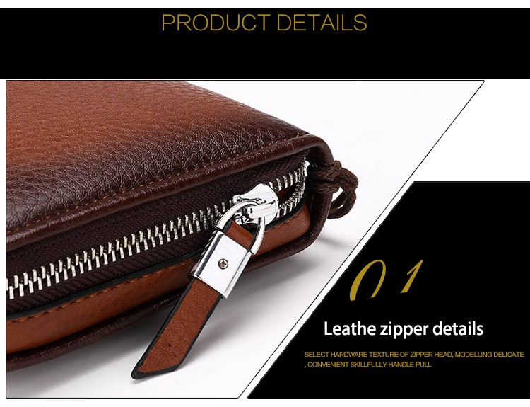 2016 Luxury Male Leather Purse Men\'s Clutch Wallets Handy Bags Business Carteras Mujer Wallets Men Black Brown Dollar Price (31)
