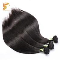 AOSUN HAIR Straight Brazilian Human Hair 3 Bundles Send One Free Closure Remy Hair 1/3PCS 100% Human Hair Extensions Weave