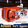 2017 Modelo 05001 de Star Wars The Force Despierta Rey Speeder Montado Bloques de Construcción de Juguetes Compatible Con 75099