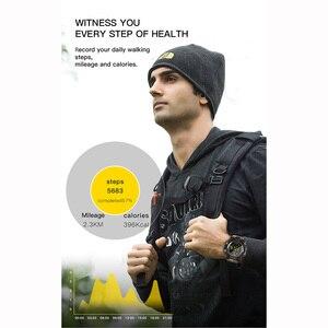 Image 2 - TimeOwner ساعة ذكية الرجال الإخطار عن التحكم مقياس الخطو الرياضة ووتش للماء الرجال ساعة اليد ساعة توقيت مكالمة SMS تذكير