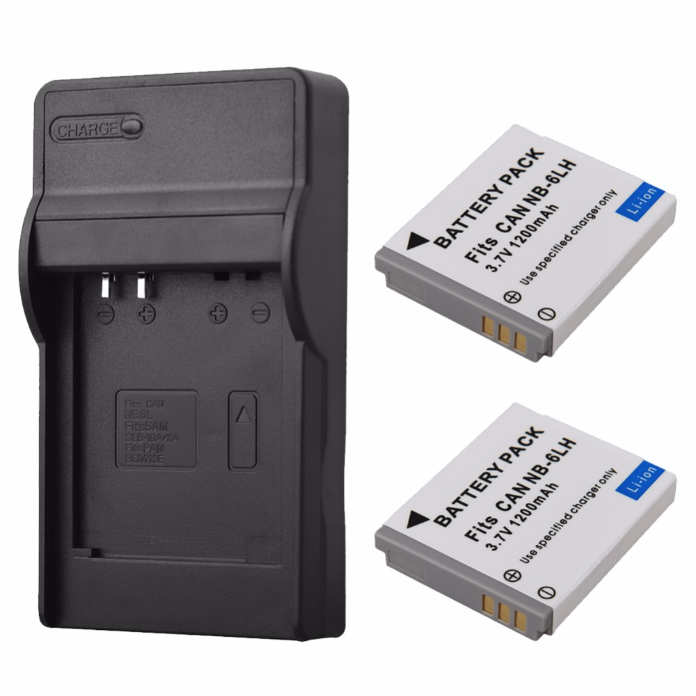 1200mAh NB-6L NB-6LH Replacement Battery with Charger For Canon IXUS 310 SX240 SX275 SX280 SX510 SX500 HS 95 200 105 210 300 S901200mAh NB-6L NB-6LH Replacement Battery with Charger For Canon IXUS 310 SX240 SX275 SX280 SX510 SX500 HS 95 200 105 210 300 S90