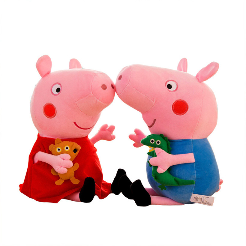 Cute Peppa Pig Family George Dad Mom 19 CM Stuffed Doll Plush Toys For Children Gifts