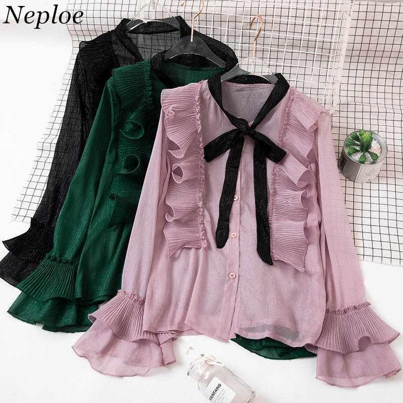b66f113ac53 ... рукавами рубашки женские блузки модные элегантные одежда новый  корейский галстук бабочка воротником Топы 37562 на Aliexpress.com