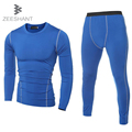 ZEESHANT T Shirt Pants Men Compression Tights Underwear Sets fitness body Bodybuilding Fitness Jerseys Suit in Men's T-Shirts