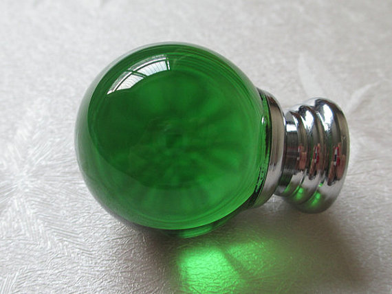 Green Glass Knobs Crystal Knob Green Drawer Knobs Dresser