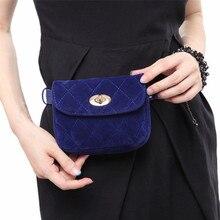 Мода талии поясная сумка мешочек Бархатный замок сумка для путешествий Хип Бум Сумка женская маленький кошелек