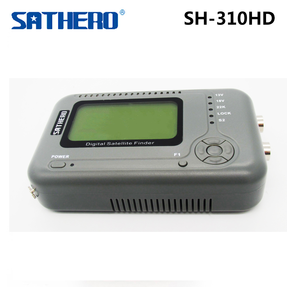 [Genuine] SATHERO SH-310HD Digital Satellite Finder DVB-S2 & DVB-T2 Combo Signal Finder DVB-S Satfinder DVB-T Signal Meter satlink ws 6979se satellite finder meter 4 3 inch display screen dvb s s2 dvb t2 mpeg4 hd combo ws6979 with big black bag