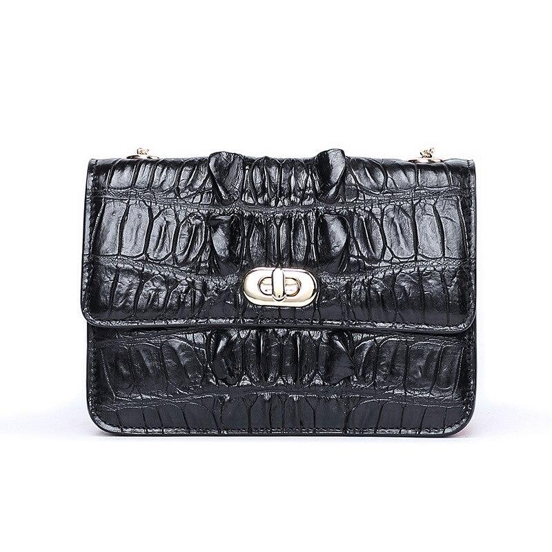 2018 petites femmes sacs en cuir véritable Crocodile Messenger sac pochettes Designer Mini sac à bandoulière femmes sac à main offre spéciale sac à main