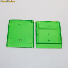 Chenghaoran 10 pcs gb gbc gba sp 게임 카트리지 케이스 주거 상자를위한 회색 명확한 녹색 게임 카드 주거 상자