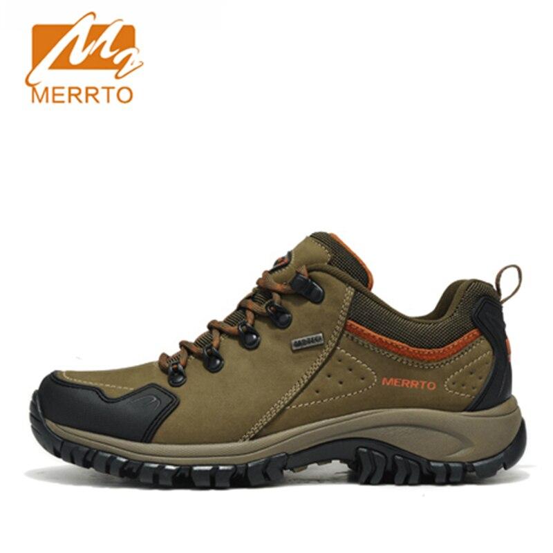 ФОТО 2017 Merrto Men Walking Shoes M2-TEC Waterproof Outdoor Shoes Full-grain leather For Men Free Shipping 18213