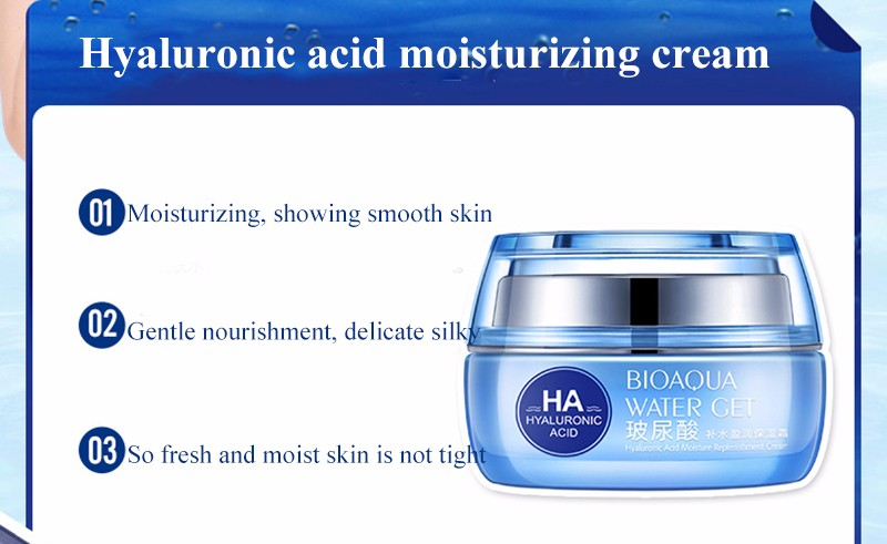 Hyaluronic Acid Face Moisturizer Cream Deep Hydrating Anti-Wrinkle Face Cream Korean Facial Day Cream Cosmetic For Dry Skin 50g 15
