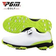 Новинка! PGM обувь для гольфа для мужчин's непромокаемые туфли двойной лакированная вращающийся шнурки 3D принт микрофибра кожа