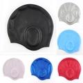 Nuevo Gel de silicona impermeable auricular largo pelo protección Natación piscina deportes Cap sombreros para hombres mujeres señoras adultos