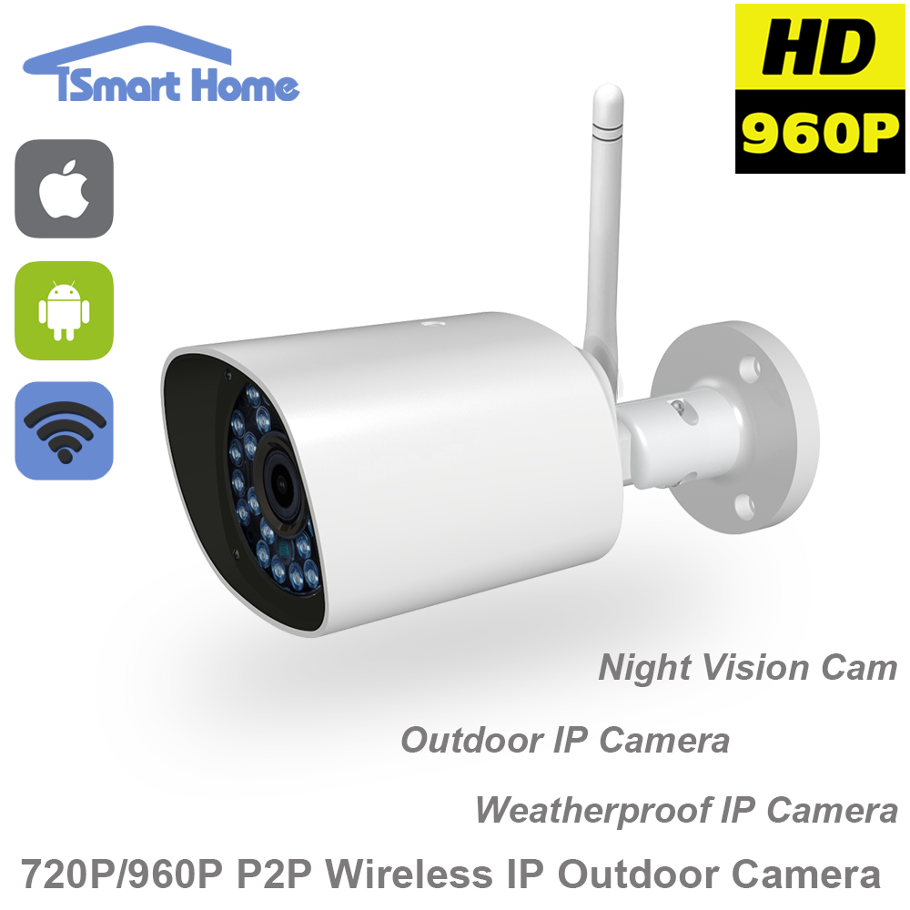 ФОТО 960P WiFi IP Camera ONVIF Wireless Surveillance Video Cam CCTV System HD IR Night Vision Outdoor Security Bullet SD Slot Kamera