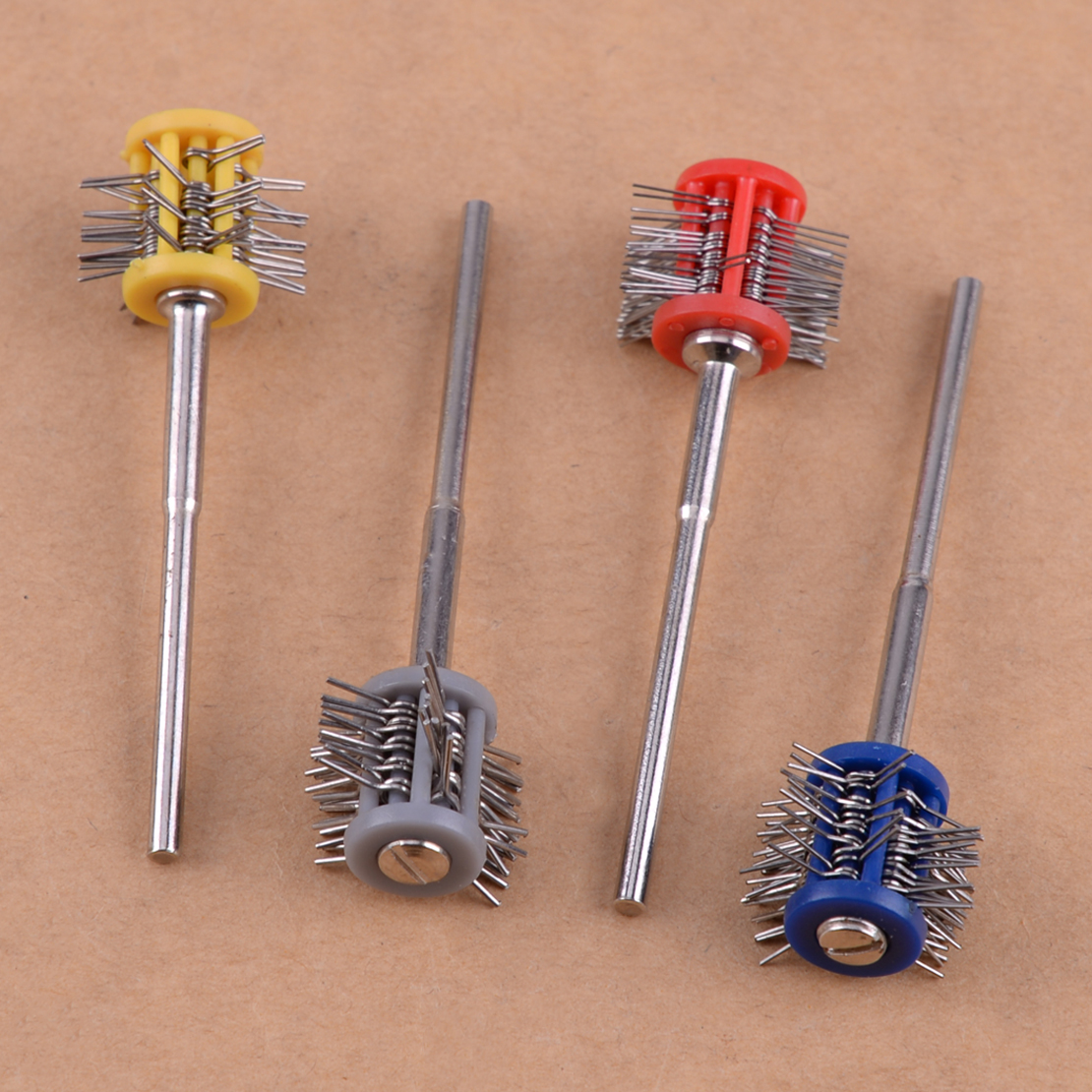 LETAOSK 2.35mm Polishing Buffing Tool Set Kit Shank Mounted Wire Brush Wheel Jewelry Jade Accessories
