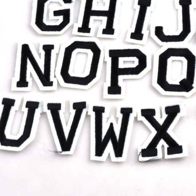 26 pcs patch diy az lettre alphabet patchs pour les enfants v tements coudre sur brod patch. Black Bedroom Furniture Sets. Home Design Ideas
