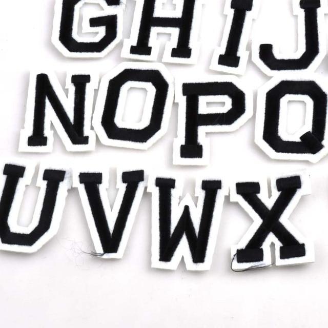 26pcs patch diy a z letter alphabet patches for kids clothes sew on