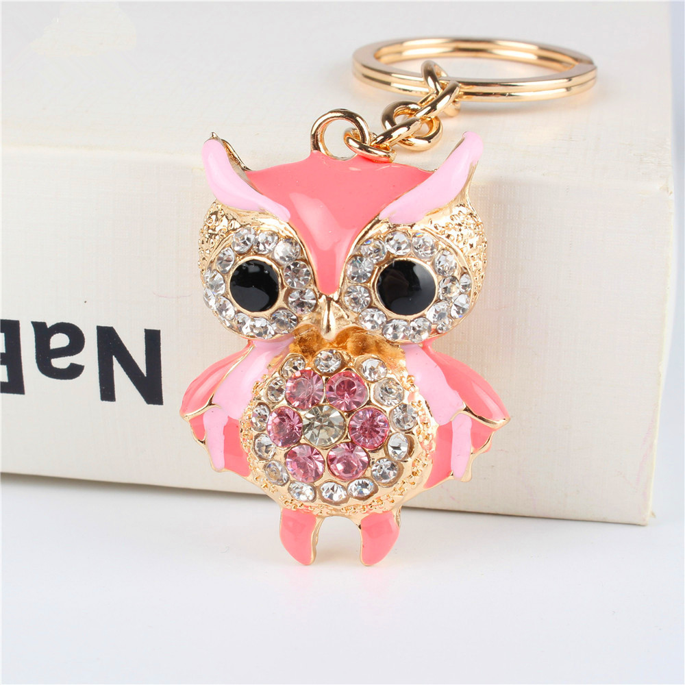Free Shipping 4Colors Cute Carton Owl Keychain Birthday/Wedding ...