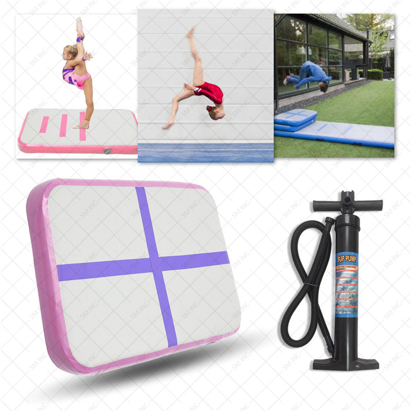 Top Quality Fitness Gym Exercise Mats Inflatable Tumbling Mats Air Tracks Floor Home Gymnastics Mat GYM + Air Pump epe foam core folding gym mats gymnastics tumbling exercise mat 2 4mx1 2mx3cm