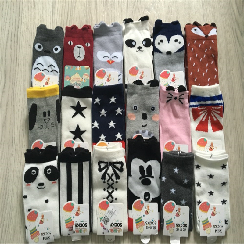 Newborn Toddler Knee High Sock Baby Boy Baby Girl Fox Socks Anti-slip Cotton Cartoon Animal Cat Leg Warmers For Newborns Infant