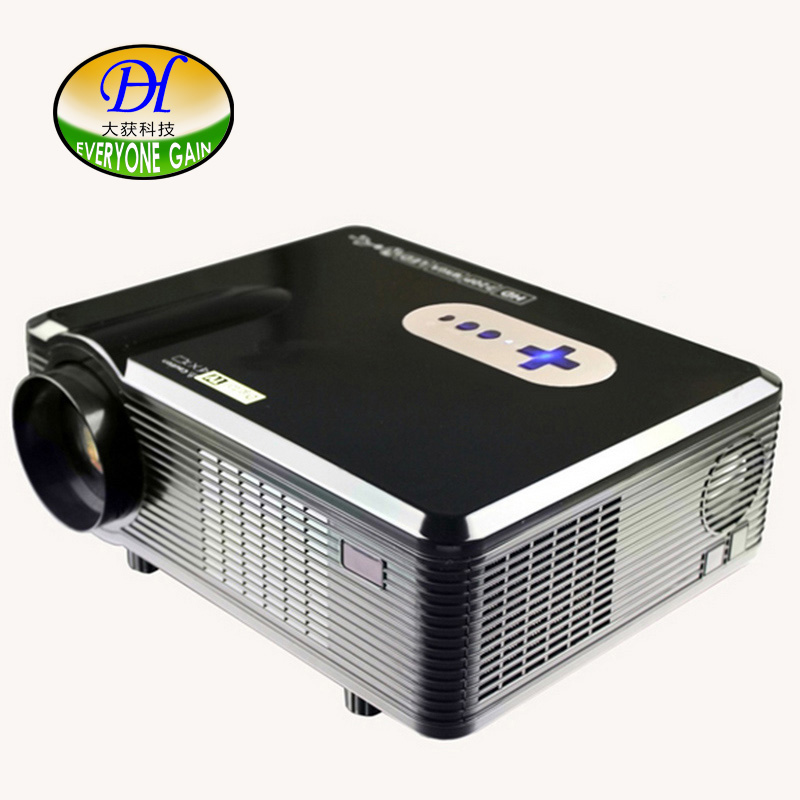 2017 New DH-TL260 Red Blue 3D Game Projector 1280*800 Support 1080P LCD Full HD Build-in Speaker Home Business Theater Proyector everyone gain video projector 3000 lumens highlight build in speaker android 4 2 support 1080p movie proyector tl300