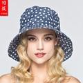 2016 New Lady Sun Hat UV Sunscreen Wide Brim Folded Outdoor Travel Sun Hats 5 Colors  Summer Leisure Sun Beach Hats B-3704