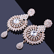 Crystal Clear Indian Style Wedding Jewelry Set for Women