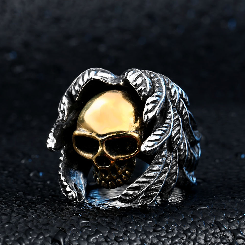 Beier Bagian Keren Bersayap Untuk Pria Stainless Steel Punk man - Perhiasan fashion - Foto 2