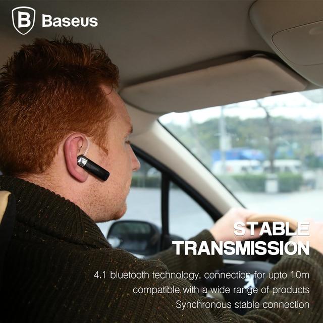 Baseus Stereo Wireless Headphone Headset For iPhone Xiaomi Samsung Earbus In Car For Phone Bluetooth Earphone Mini V4.1 Handfree