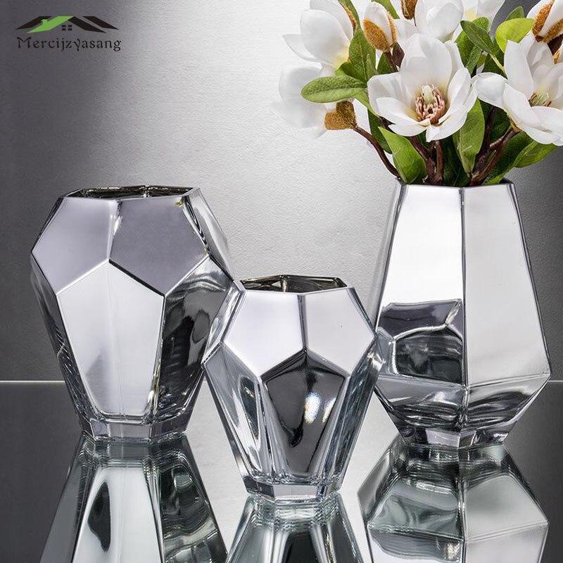 Europe Flowers Vases Table Centerpiece Vase Glass Tabletop Flower Plating Holder for Home Wedding Decoration Best