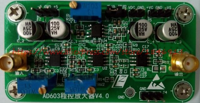 AD603 Programmable Amplifier Module VCA VGA -20dB~60dB Gain Can Be Adjusted Manually / Automatically
