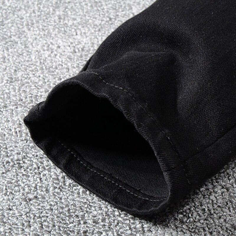 Royles Men's skinny black ripped jeans 4